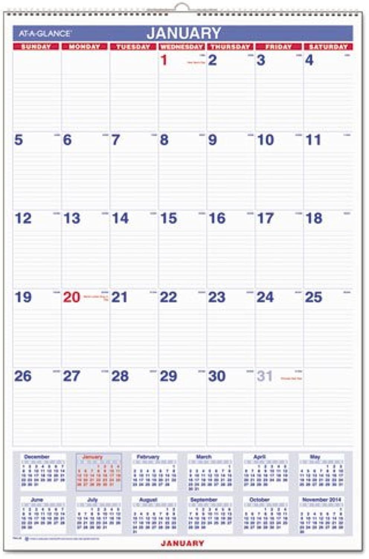 Monthly Wall Calendar,Jan-Dec,1PPM,20x30,BE WE by At-A-Glance B0096XSQV2 | Die Qualität Und Die Verbraucher Zunächst
