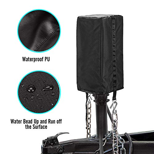 Seven Sparta Electric Jack Cover, 600D Oxford Fabric Universal RV Electric Tongue Trailer Jack Protective Head Cover (Universal Size 18″H x 7 1/2″W x 9″D)