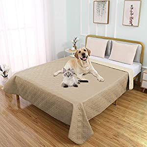 SUNNYTEX Waterproof Dog Bed Cover Pet Blanket for Couch Sofa Pee Pad Bed Mat Anti-Slip Furniture Protrctor