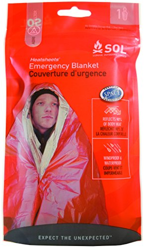 S.O.L Survive Outdoors Longer S.O.L. 90% Reflective Emergency Blanket (Pack of 4)