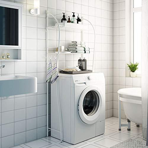 Ramingt-Home douche Caddy plank 2-Shelf badkamer Organizer over het toilet voor Pantry Wasserij Badkamer Keuken Wit Finish Douche Caddy plank bad opslag Organizer