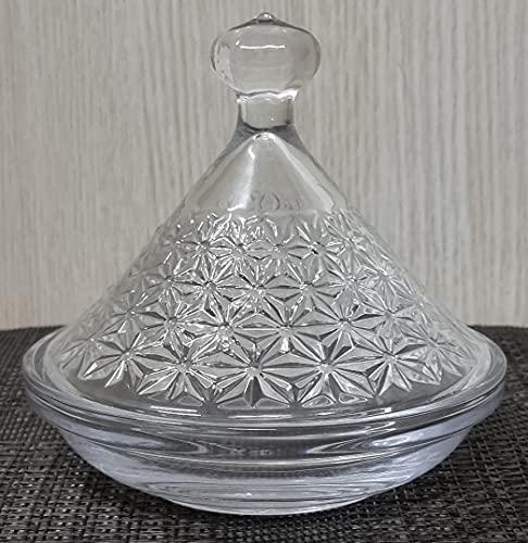 ARTE REGAL Bombonera de Cristal con Tapa de 12,5cm