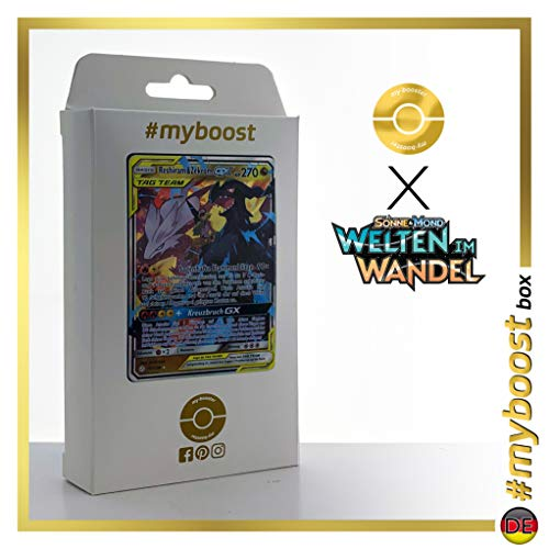Reshiram & Zekrom-GX 157/236 - #myboost X Sonne & Mond 12 Welten im Wandel - Doos met 10 Duitse Pokémon-kaarten