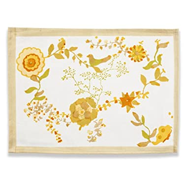 Couleur Nature 15-inches by 18-inches Treetop Placemat, Yellow/Green, Set of 6