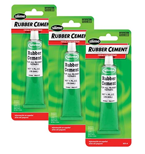 Slime 1051-A Rubber Cement - 1 oz, Pack of 3