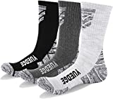 KOOOGEAR 3 Pairs Men's Hiking Walking Socks,No Blister Terry Cushion, Breathable,Warm, Moisture Wicking,Arch Support for Outdoor Sports Running Trekking Cycling Camping Golf Gym