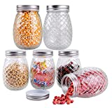 STAR WORK Glass Canning Jars With Lids - 500ml, Pack Of 5, Clear