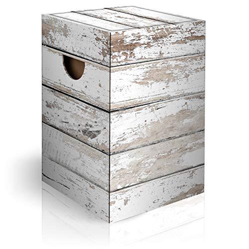 murando Papphocker Motiv Holz 45x30x30 cm faltbar Papier Hocker ergonomischer Karton Photohocker Falthocker f-C-0284-ap-a