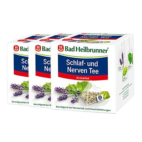 Bad Heilbrunner® Schlaf- und Nerven Tee - Pyramidenbeutel 3er Pack