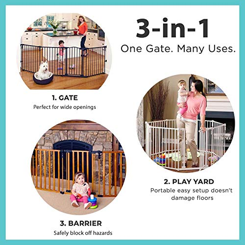 51auqdLQNbL The TOP 7 Best Free Standing Baby Gates 2021 Review