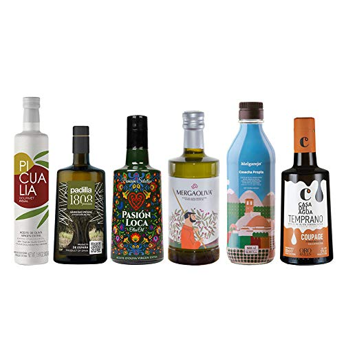 Pack Eco | Caja con selección de 6 botellas de 500 ml de Aceite de Oliva Virgen Extra | Calidad al mejor precio | Diferentes Marcas | Ideal para regalo
