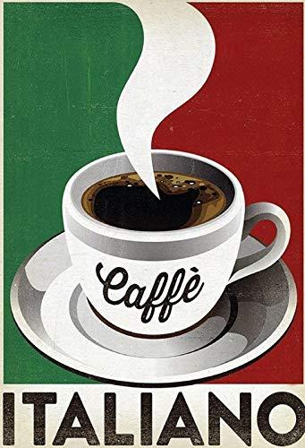 FS koffie koffie Italiano Coffee kop blikken bord gewelfd Metal Sign 20 x 30 cm