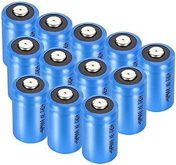 12-Pack 3V 1300mAh Bingogous CR123A Lithium Battery