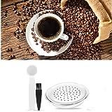 Cápsula de café recargable, acero inoxidable Cápsulas de recarga reutilizables Cápsula de café recargable que incluye 1 cuchara, 1 cepillo de limpieza para cafetera s-e-n-s-e-o HD7801, HD6592