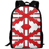 G.H.Y Reino Unido Bandera de Iberia Mochila de Viaje para Adultos Mochila Escolar Casual Oxford Bolsa para computadora portátil al Aire Libre Universidad