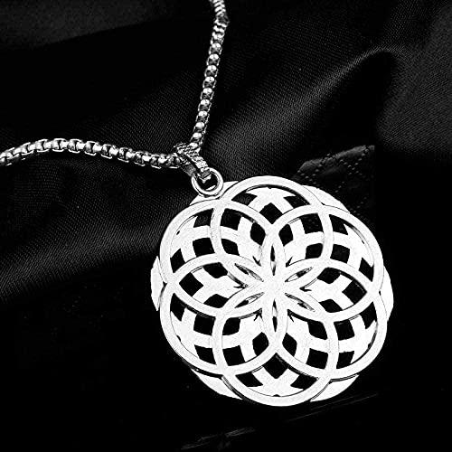 Yiffshunl Collar Flor Collar Mandala Collar Colgante Joyas Geometría Sagrada Mujeres Accesorios de Joyería