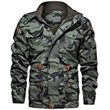THWJSH Chaqueta de combate de camuflaje para caza militar impermeable Airsoft, chaquetas de pesca clásicas, para actividades al aire libre, nieve,...