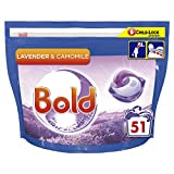 Bold All-in-1 Pods Washing Liquid Laundry Detergent Tablets/Capsules, 51 Washes, Lavender and Camomile