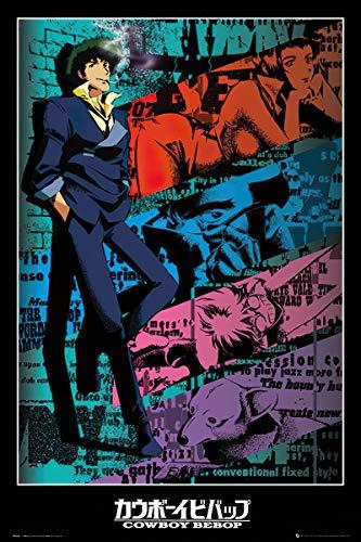 "Cowboy Bebop - Anima/Manga TV Show Poster/Print (Spike) (Size: 24 x 36 inches) (Black Poster Hanger - 24"", Black Poster Hanger)"