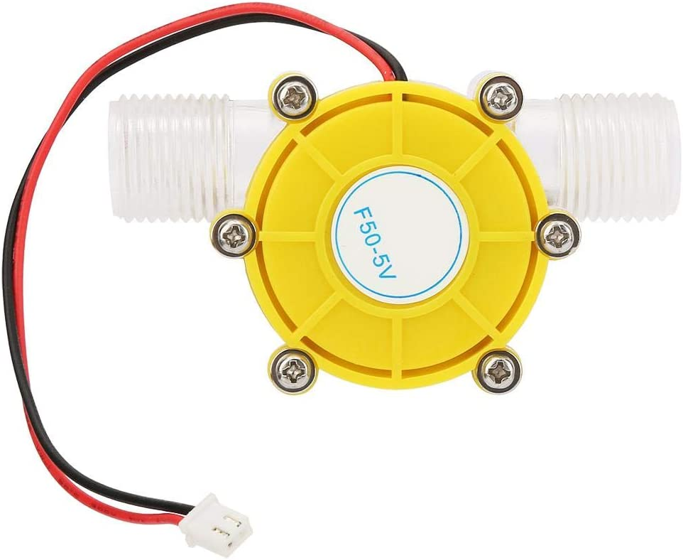 Solid Structure Water Turbine Generator Micro-Hydro Generator F50 5V Transparent Yellow No Rust Low Noise for Power Generation for Home