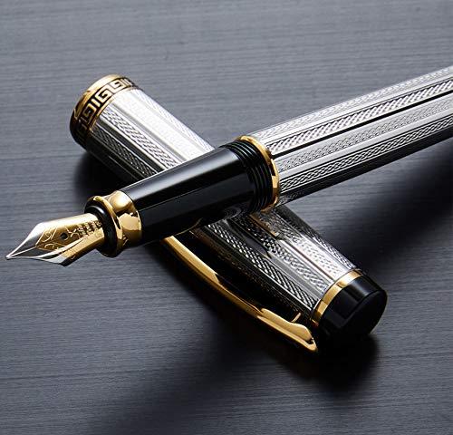 Penna stilografica Xezo fine platino e placcato oro 18K con cappuccio a vite Limited Edition (incognito Platinum F)