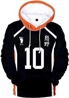 IFITBEL Women Men Haikyuu!! Cosplay Hoodie Sweatshirt Pullover Volleyball Club Sweatshirt Boys Fashion 3D Adult Kids Outwear