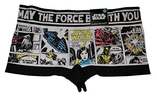 Star Wars Vintage Image Blocks Boyshort Panties - Small