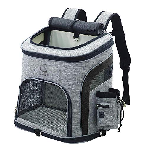 mengfei Pet Bag,Small Animal Travel Bag,PortablePet Carriers For Outdoor Walking,hands-free Dog Carrier,Black-Medium