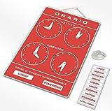 Politarghe R-006 - Cartel para horarios de apertura de tienda, estudio, laboratorio, bar, ...
