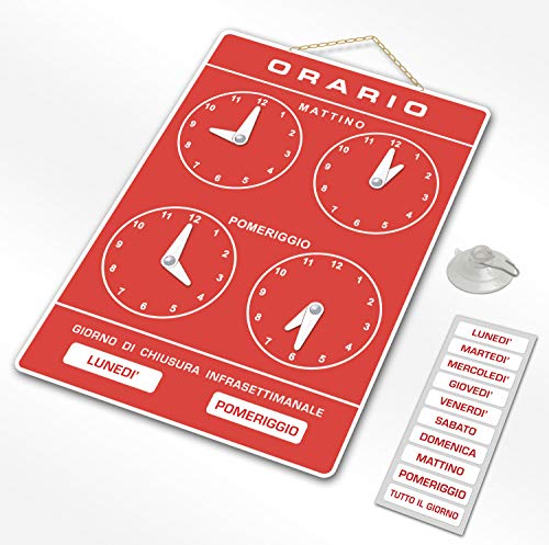 Politarghe R-006 - Cartel para horarios de apertura de tiend