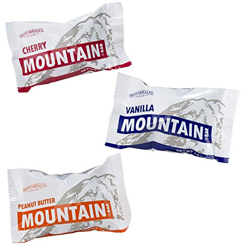 Mountain Bar Variety Case of 15 Bars (5 Vanilla, 5 Cherry, 5 Peanut Butter)