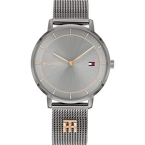 Tommy Hilfiger Reloj Analógico para Mujer de Cuarzo con Correa en Acero Inoxidable 01782285