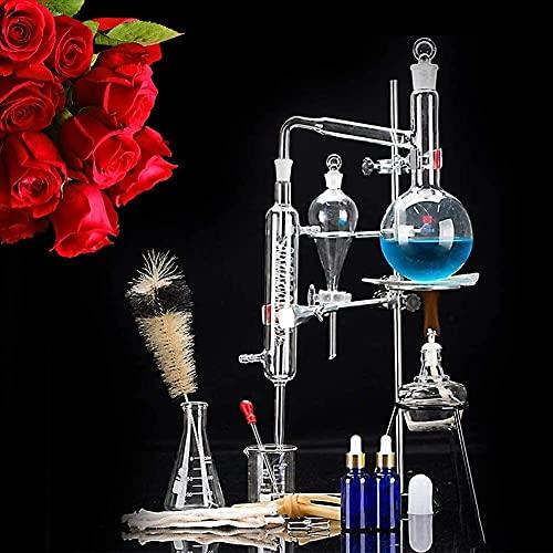 LXNQG Unidad De Destilación, Juego De Cristalería De Laboratorio, Destilador De Ciencia Industrial De 500 Ml, Purificación De Rocío Puro, Filtro De Agua De Producción De Destilado