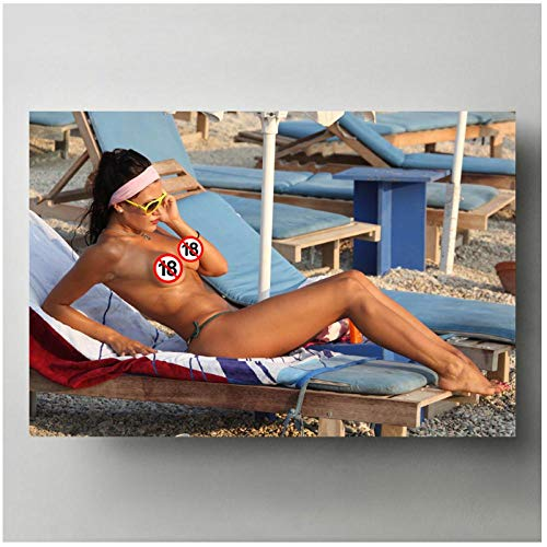 FUXUERUI Hot Girl Bikini Beach Sexy Woman Pictures Wall Art Posters Canvas Painting Art Print para la...