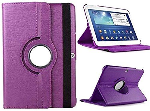 Theoutlettablet® Funda Giratoria 360º para Tablet Bq Aquaris M10 10.1' Book Cover Case Protección Delantera y Trasera Color Morado