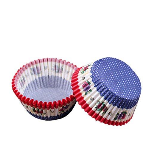 Beiersi Lot de 100 Caissette à Cupcake Muffin Papier pour Moules en Papier Pâtisserie Décor