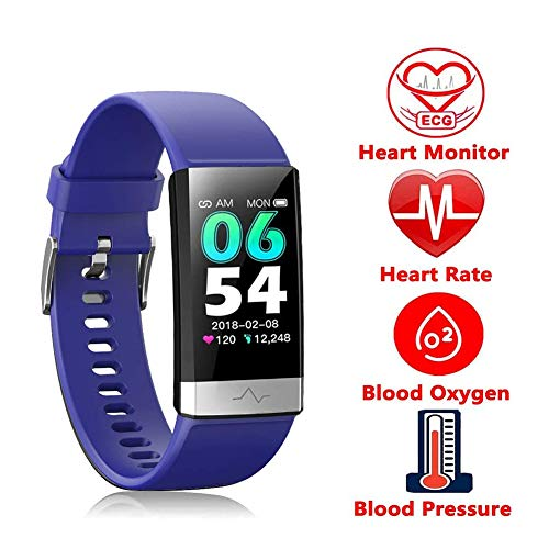 HGFDSA Fitness Tracker IP68 Waterproof Environmental Sport Smart Watch Multiple Motion Modes Activity Tracker with HR BP Calories Pedometer Sleep Monitor, Best for Man Women & Kids,Purple