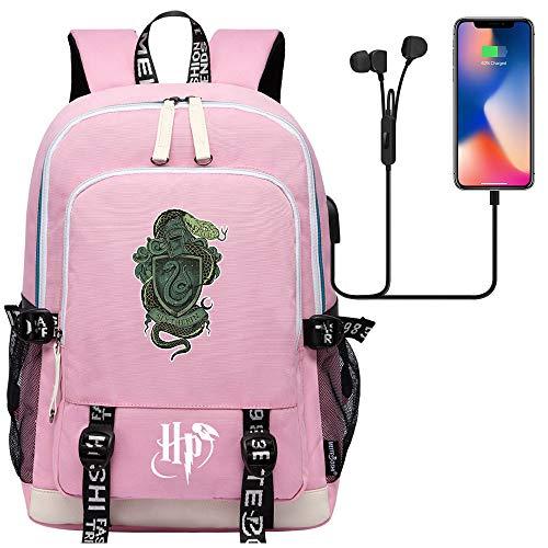 GXB Hogwarts College Backpack Junior Schoolbag Mochila Casual Rosa Unisex Talla única Estilo-27