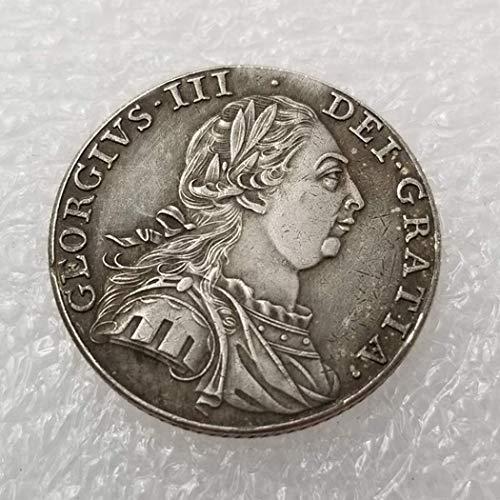 DDTing 1787 Münze mit 1 Schilling-Münze, britische alte Silbermünze zum Sammeln – Silber-Dollar-Münze – unzirkuliert/Sammlerstück