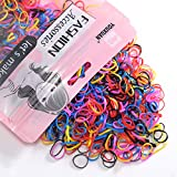 Youxuan Kids Elastics No Damage Colored Hair Bands Fashion Girls Hair Ties 1000 Count Small Size