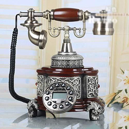 CZWYF Teléfono Europeo de teléfono Fijo Familia Fijo Teléfono Retro Viejo antigüedad de la Manera Creativa