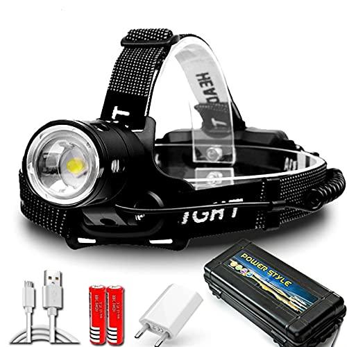 Linterna Frontal 80000 0LM XHP100 Potente faro LED 18650 XHP90 Lámpara de la cabeza de la lámpara de la lámpara de la lámpara de la lámpara de la lámpara de la lámpara de la lámpara de la lámpara de l