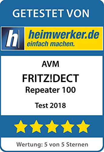 AVM FRITZ!DECT Repeater 100 (Erhöht DECT-Reichweite) deutschsprachige Version