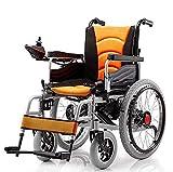 Y-L Ancianos Discapacitados Inteligente Plegable Portátil Manual Eléctrico de Doble Propósito Silla de Ruedas Eléctrica Pride Mobility Travel Electric Powerchair (Purple)