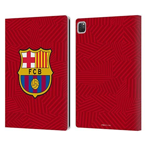 Head Case Designs Oficial FC Barcelona Rojo 2017/18 Crest Carcasa de Cuero Tipo Libro Compatible con Apple iPad Pro 12.9 (2020)
