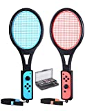 Tennis Racket for Nintendo Switch Joy-Con, Tendak Game Accessories for Mario Tennis Aces Game with...