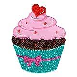 PatchMommy Muffin Cupcake Patch Aufnäher Applikation Bügelbild - zum Aufbügeln oder Aufnähen -...