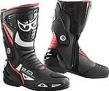 Berik Shaft 2.0 Stivali da moto Nero/Rosso 42...