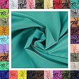 maDDma 5m Futterstoff Breite 148cm, Farbwahl, Farbe:türkis