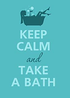 Rectangle Refrigerator Magnet - Keep Calm and Take A Bath Person in Tub w/Bubbles